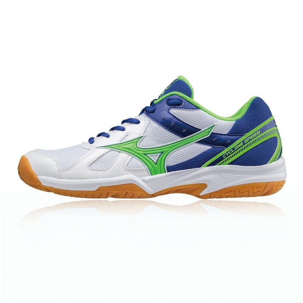 MIZUNO CYCLONE SPEED WHITE GREEN BLUE