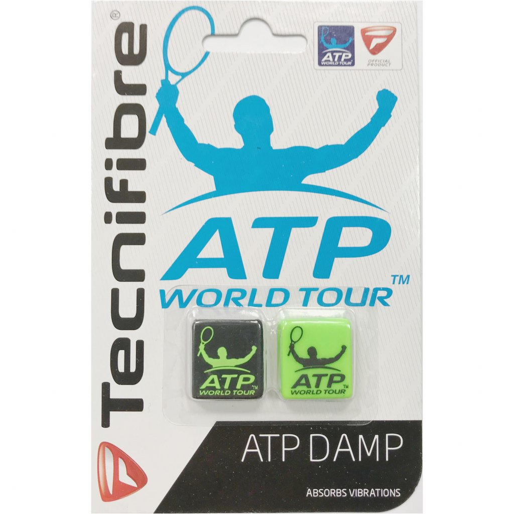 Tecnifibre ATP DAMP BLACK GREEN