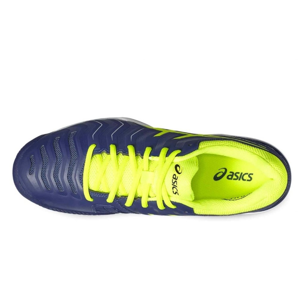 ASICS GEL CHALLENGER 11 CLAY INDIGO BLUE SAFETY YELLOW SILVER