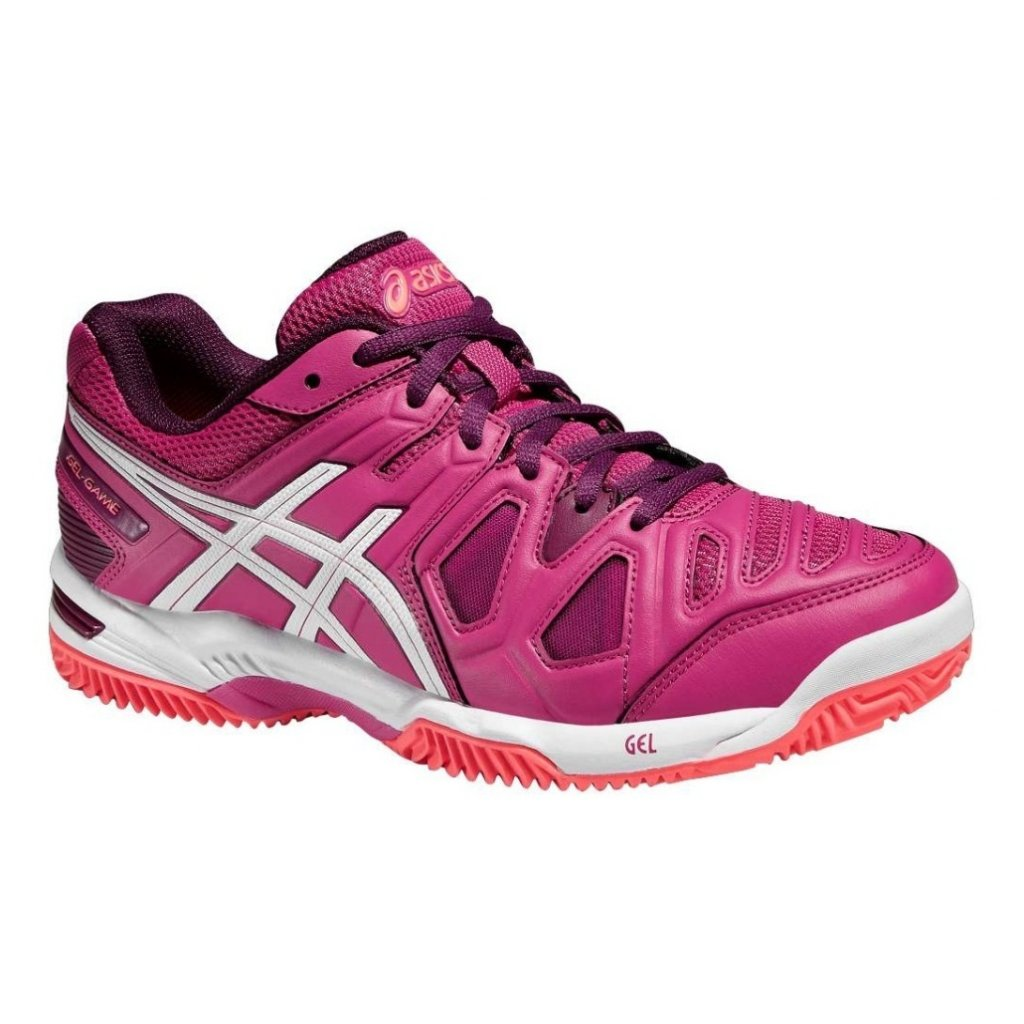 Tenisová obuv ASICS GEL-GAME 5 CLAY BERRY WHITE PLUM