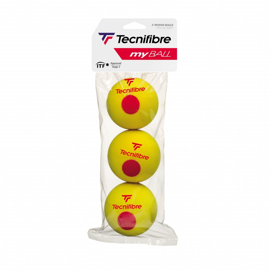 Penové detské tenisové loptičky Tecnifibre My Ball 3 ks