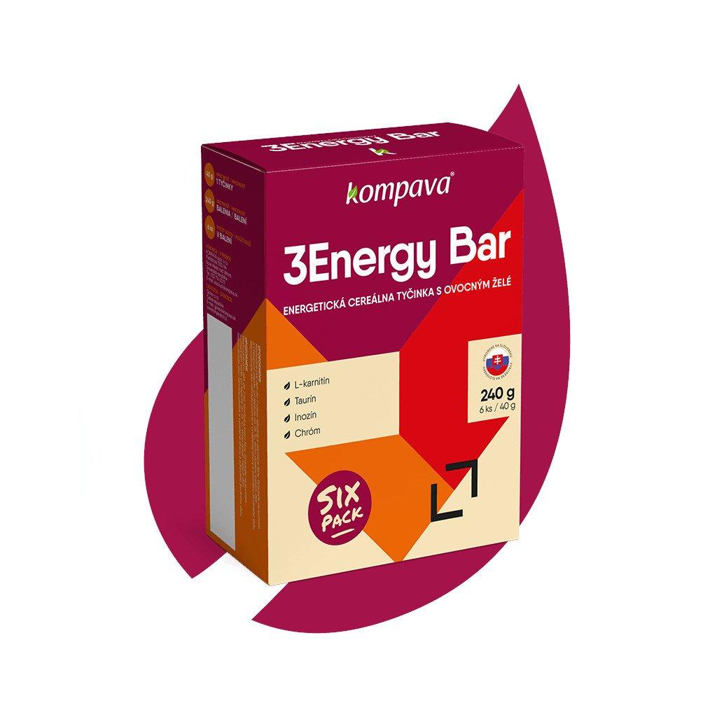 Energetická tyčinka Kompava 3Energy Bar Sixpack