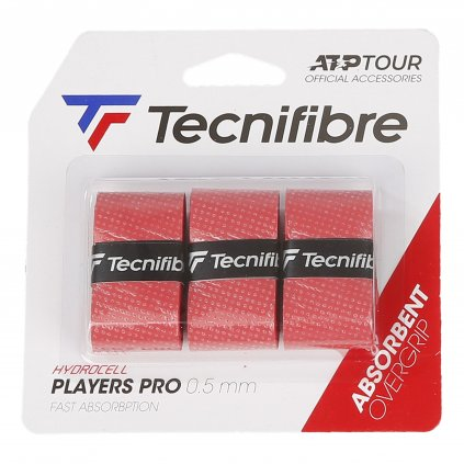 Tecnifibre PRO PLAYERS RED OVERGRIP 3 ks