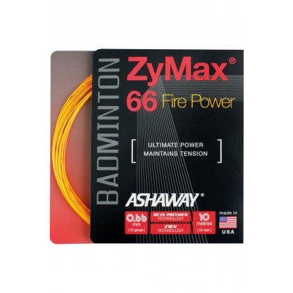 Bedmintonový výplet Ashaway ZyMax 66 Fire Power 0,66 mm (10 m)