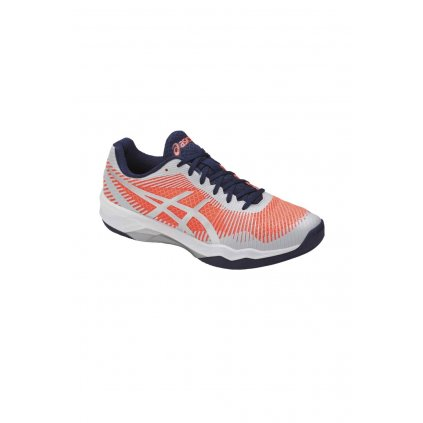 ASICS VOLLEY ELITE FF FLASH CORAL GLACIER GREY INDIGO BLUE