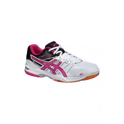 ASICS GEL ROCKET 7 WHITE MAGENTA BLACK