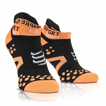 Kompresné ponožky Compressport Strapping Socks Low Cut Black
