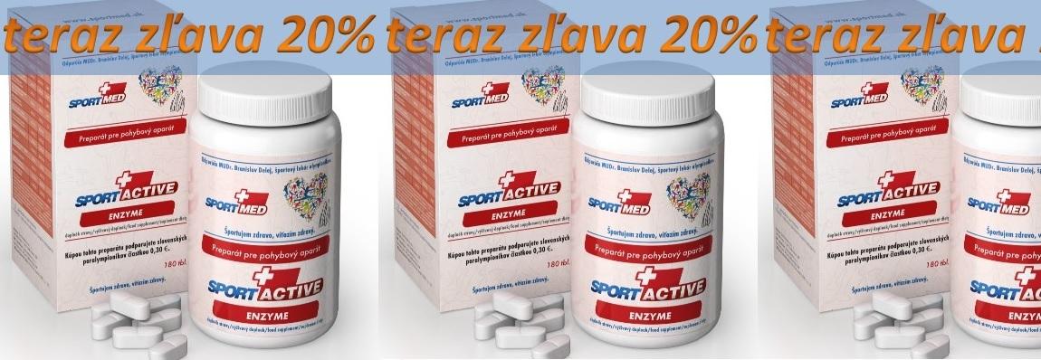 Bezkonkurenčná ponuka na Sportactive ENZYM,  len 20€ na 1 mesiac!