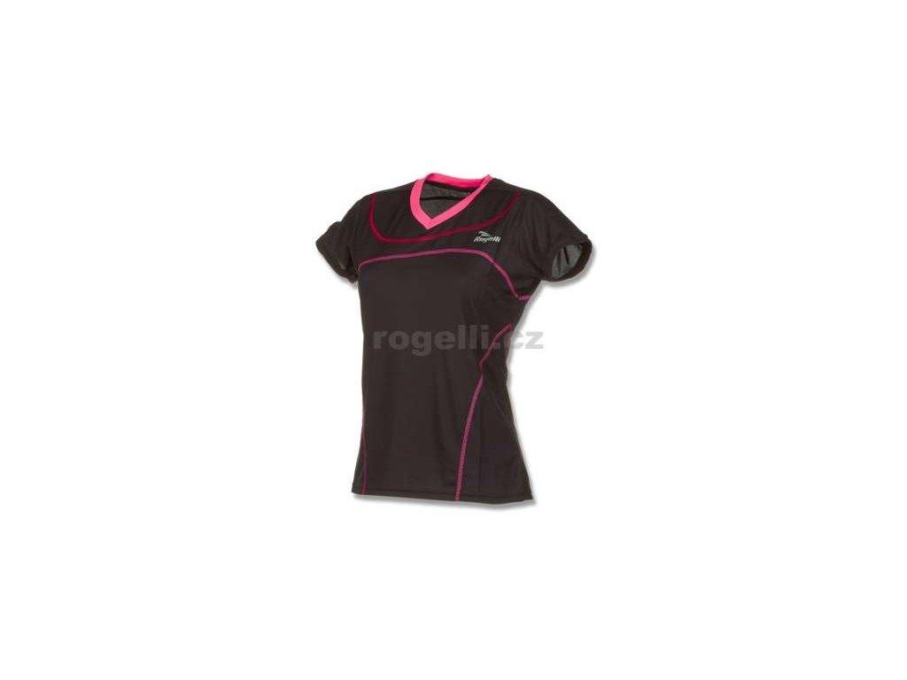 Dámské funkční tričko Rogelli MIRAL, černé (Varianta XXL)