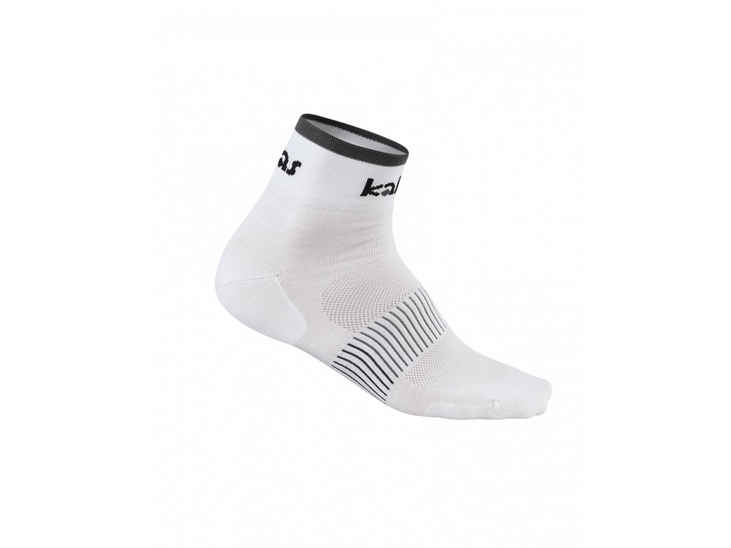 Cyklistické ponožky RACE X4 | bílé/šedé (Varianta 46-48)