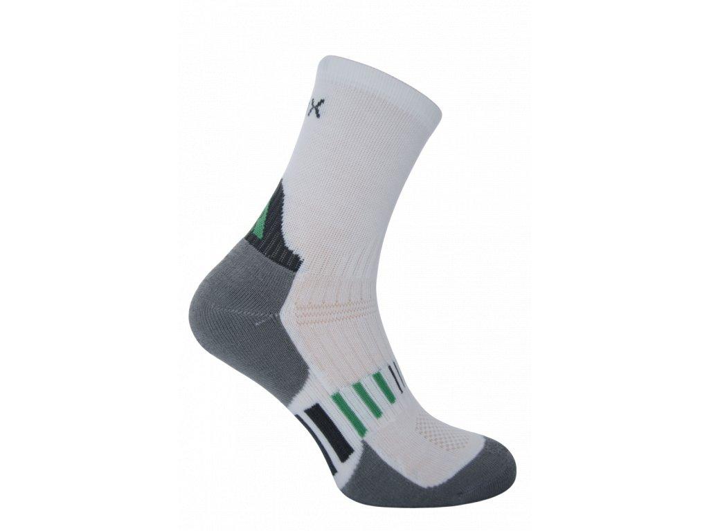 sportovní ponožky cyklo-oblečení bílé