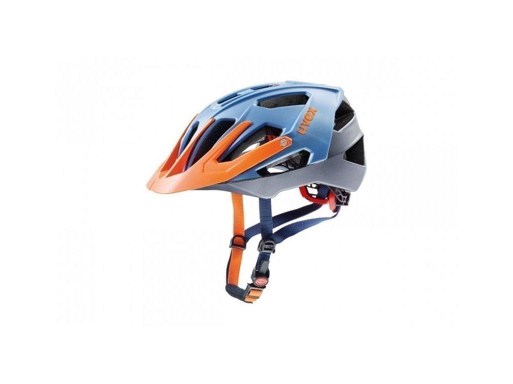 Přilba UVEX Quatro modro/stříbrno/oranžová
