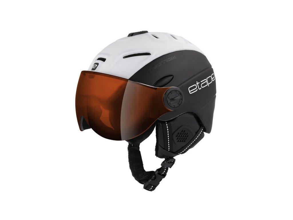 Pánská lyžařská helma Etape Comp Pro, černá/bílá mat