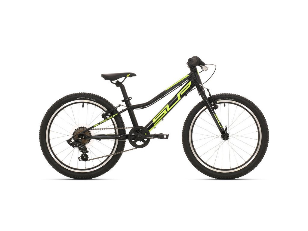 Dětské kolo Superior Racer XC 20 gloss black/neon yellow/dark grey 2019