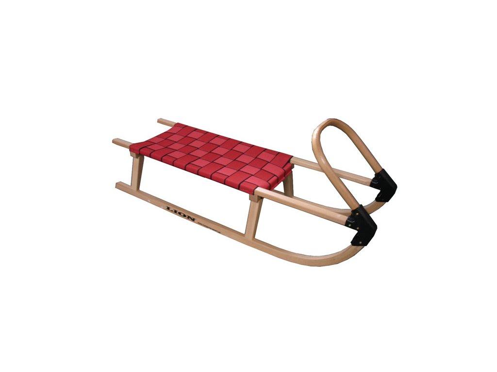 Dřevěné sáně 110cm A2041 - červené