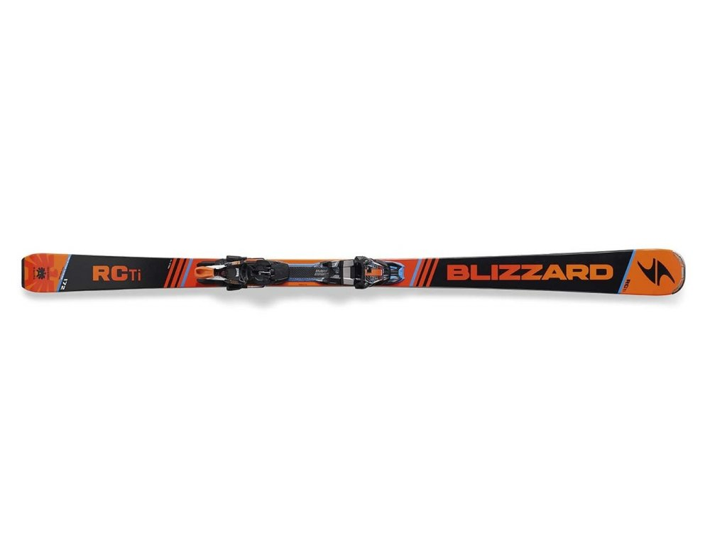 SET SJEZDOVÉ LYŽE BLIZZARD RC TI SUSPENSION + VÁZÁNÍ TCX 12 DEMO, BLA./ORA./BLUE