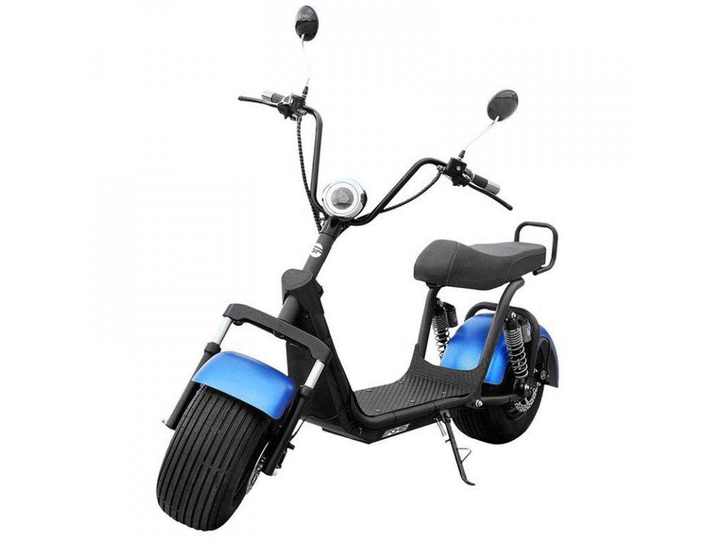 Spokey BIG BOSS Elektrický skútr černo-modrý, do 150 kg