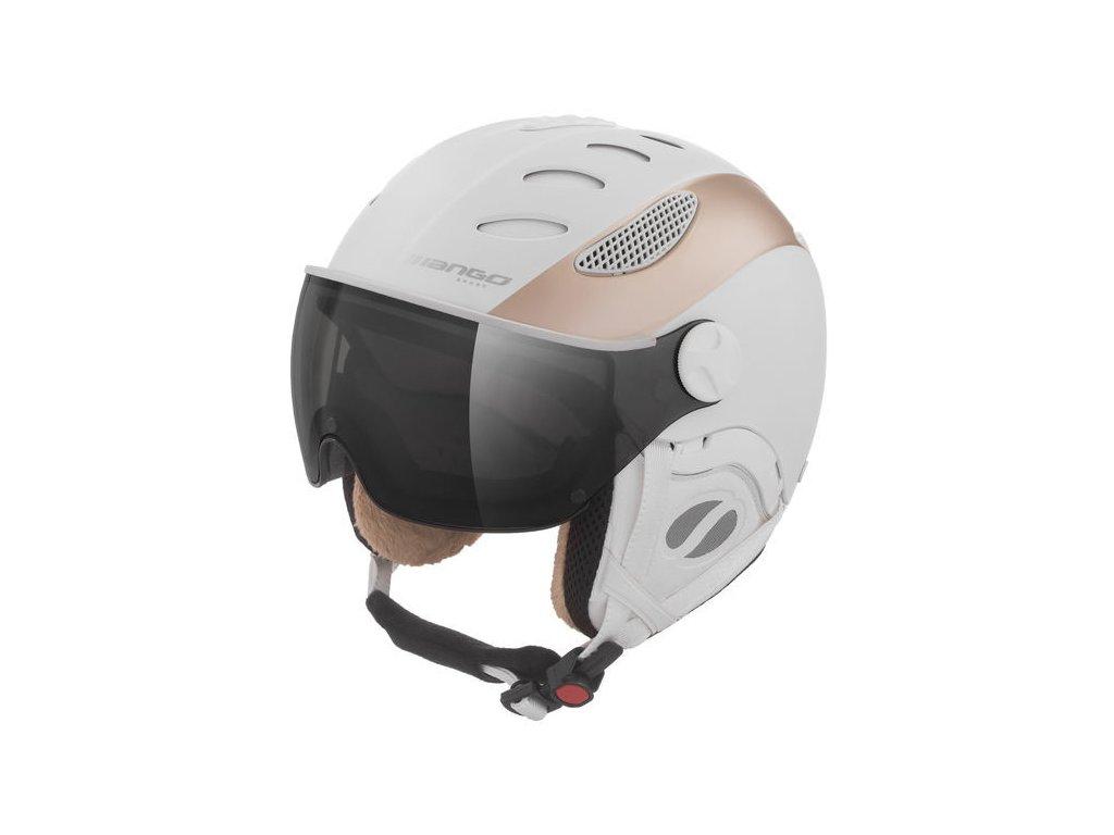 Dámská lyžařská helma Mango Cusna VIP, bílá/prosecco mat