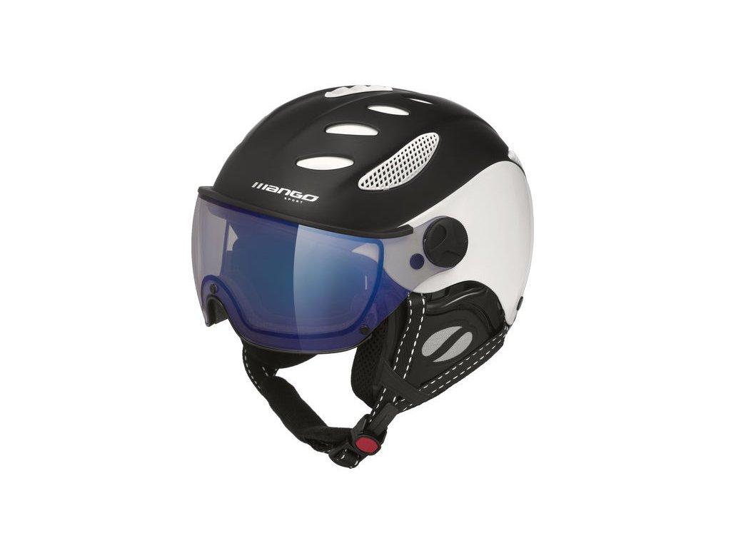 Lyžařská helma Mango Cusna VIP, černá mat/bílá