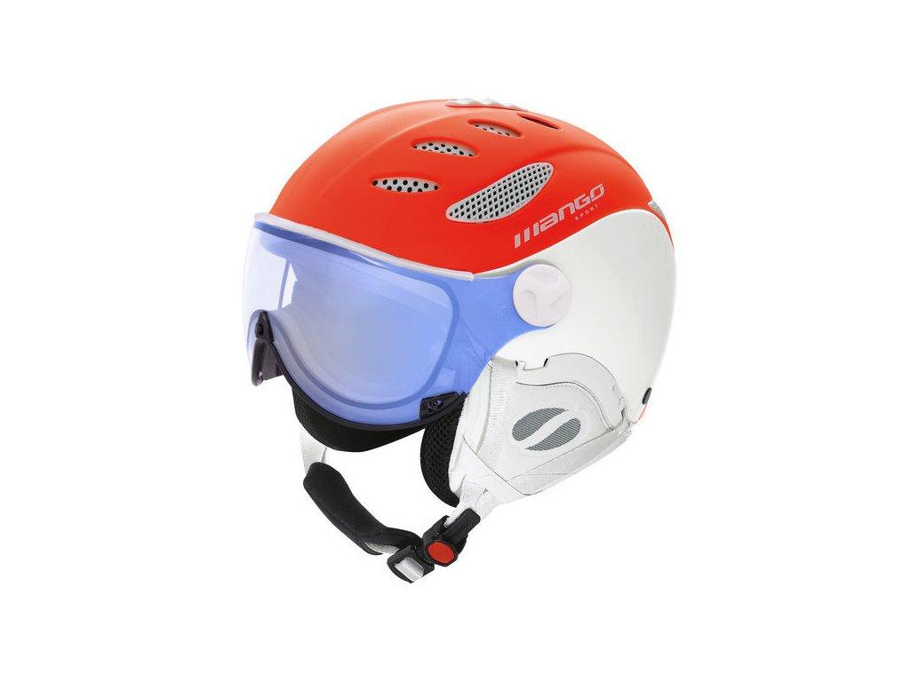 Lyžařská helma Mango Cusna VIP, ranžová mat