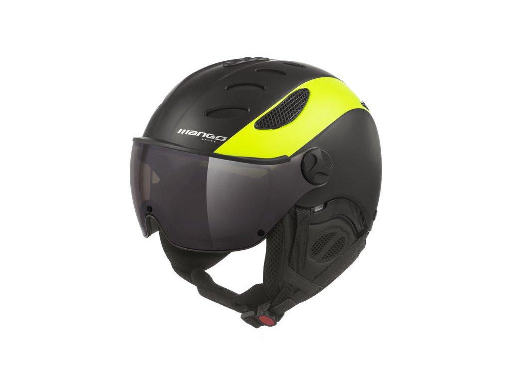 Lyžařská helma Mango Cusna VIP, černá/žlutá fluo mat