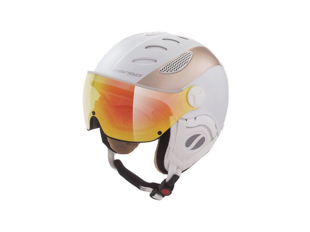 Dámská lyžařská helma Mango Cusna Pro+, bílá/prosecco mat