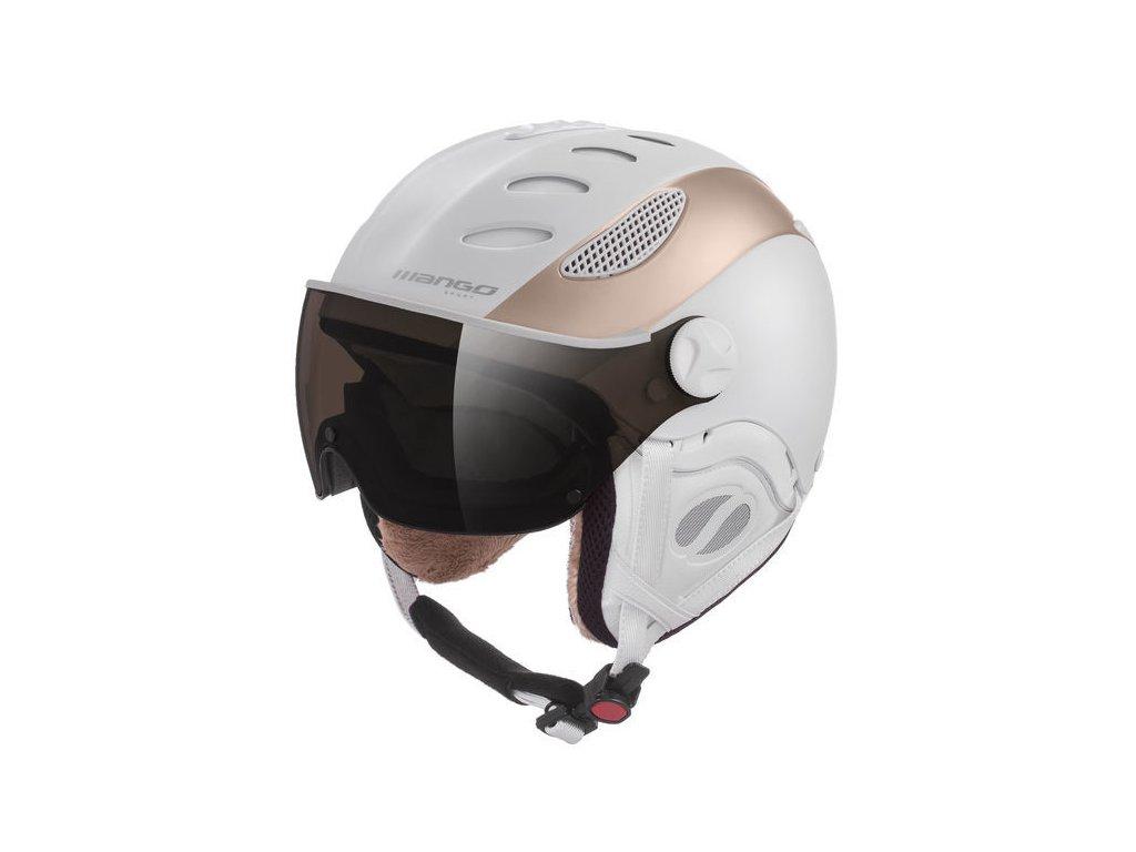 Dámská lyžařská helma Mango Cusna Pro, bílá/prosecco mat