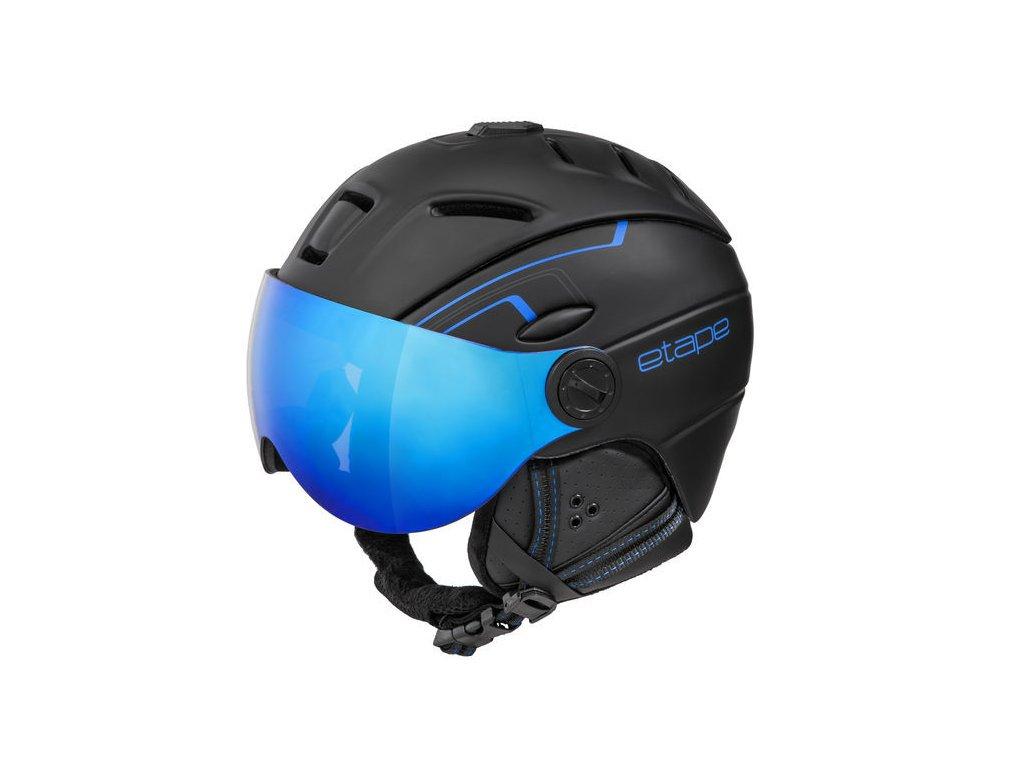 Pánská lyžařská helma Etape Comp Pro, černá/modrá mat