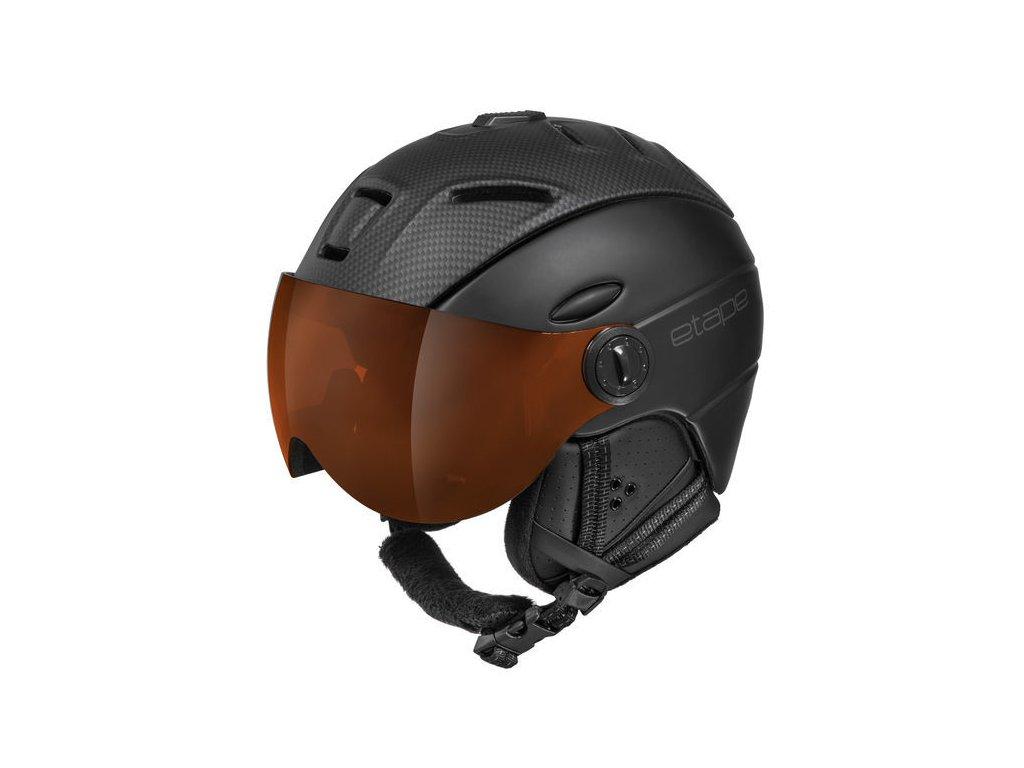Pánská lyžařská helma Etape Comp Pro, černá/karbon mat
