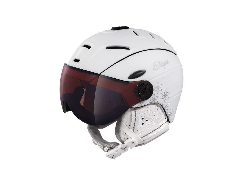 Dámská lyžařská helma Etape Grace Pro, bílá mat
