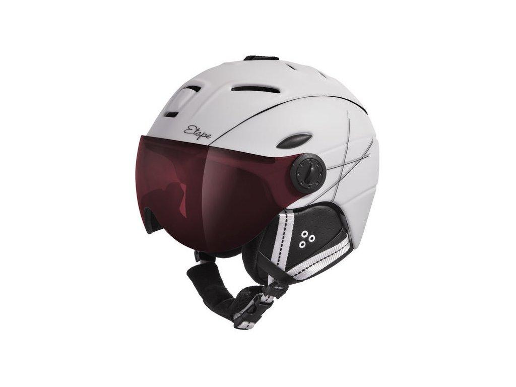 Dámská lyžařská helma Etape Grace Pro, bílá/černá mat