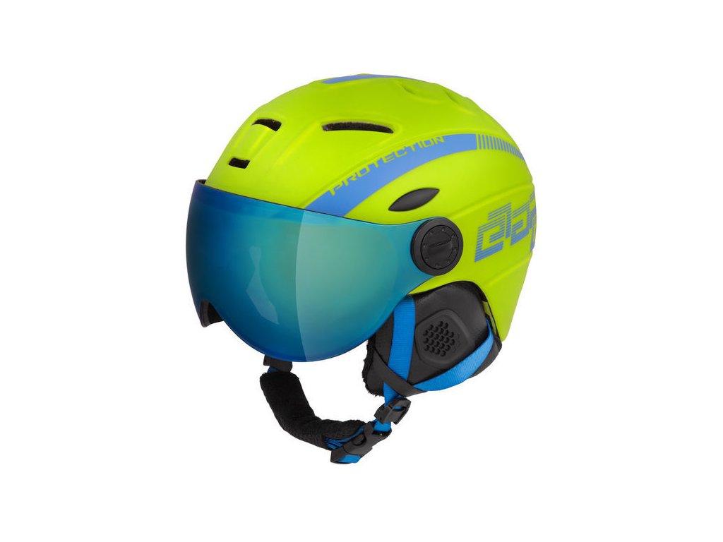 Dětská lyžařská helma Etape Rider Pro, limeta/modrá mat