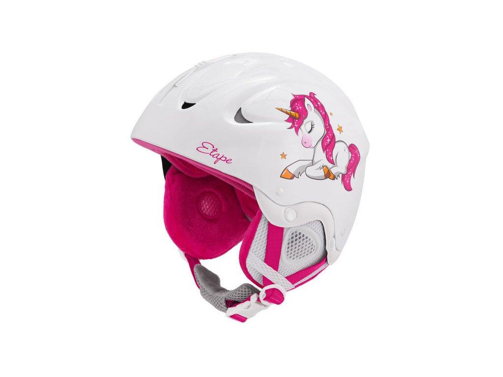 Dětská lyžařská helma Etape Gemini, bílá