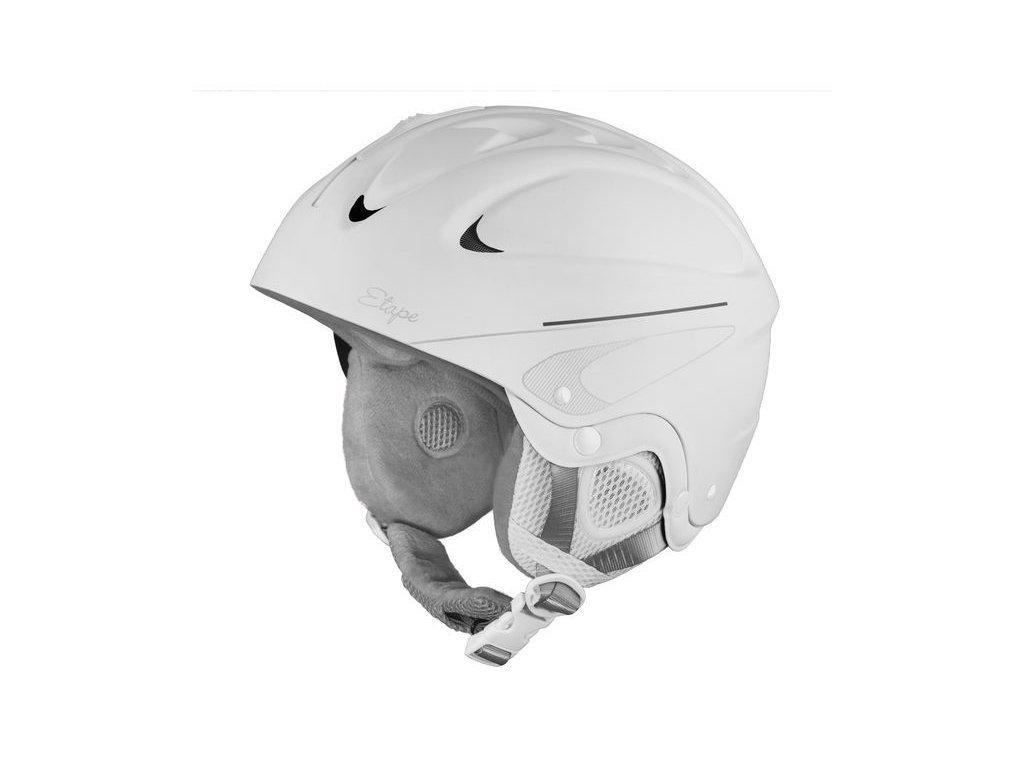 Lyžařská helma Etape Race, bílá mat