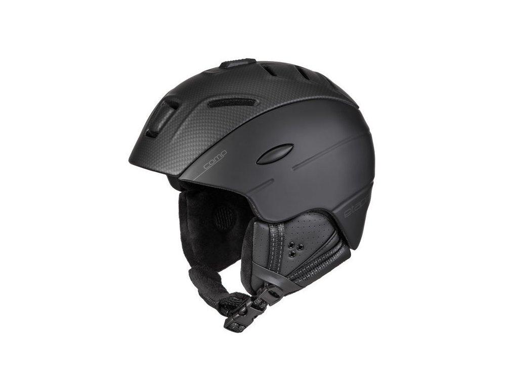 Lyžařská helma Comp, černá/karbon mat