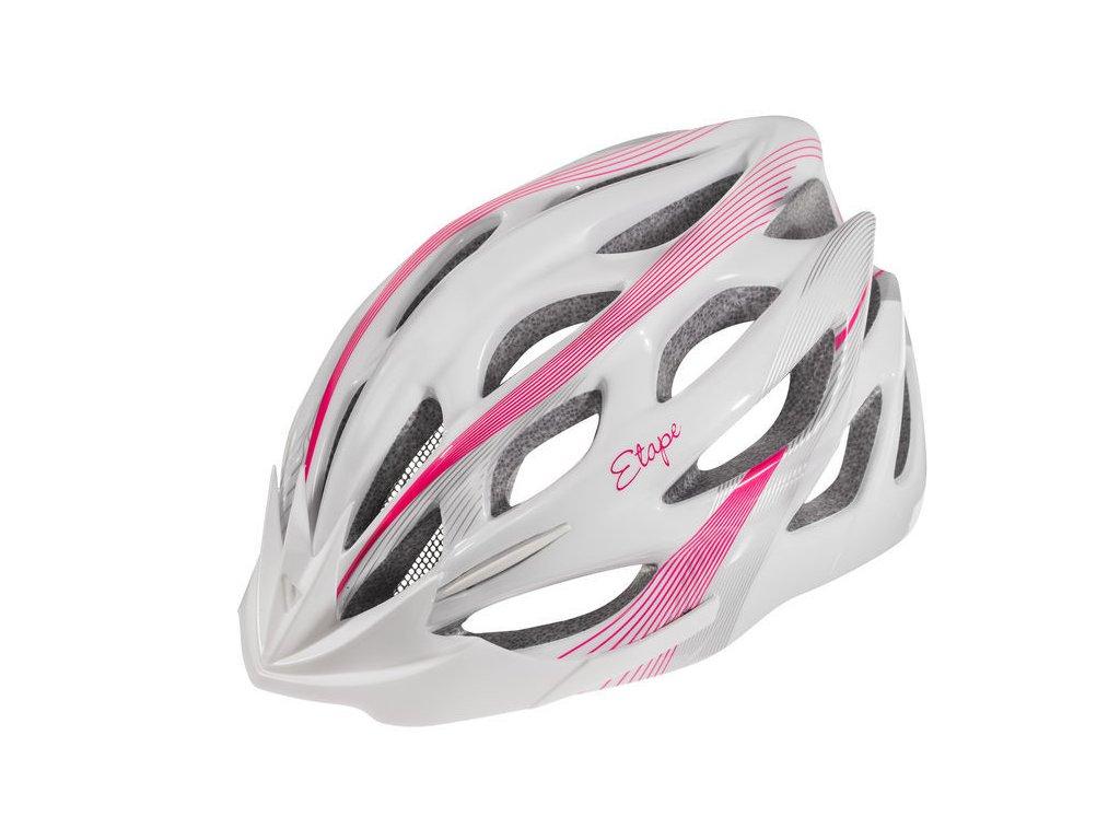 Dámská cyklistická přilba Etape Vesper, bílá/růžová