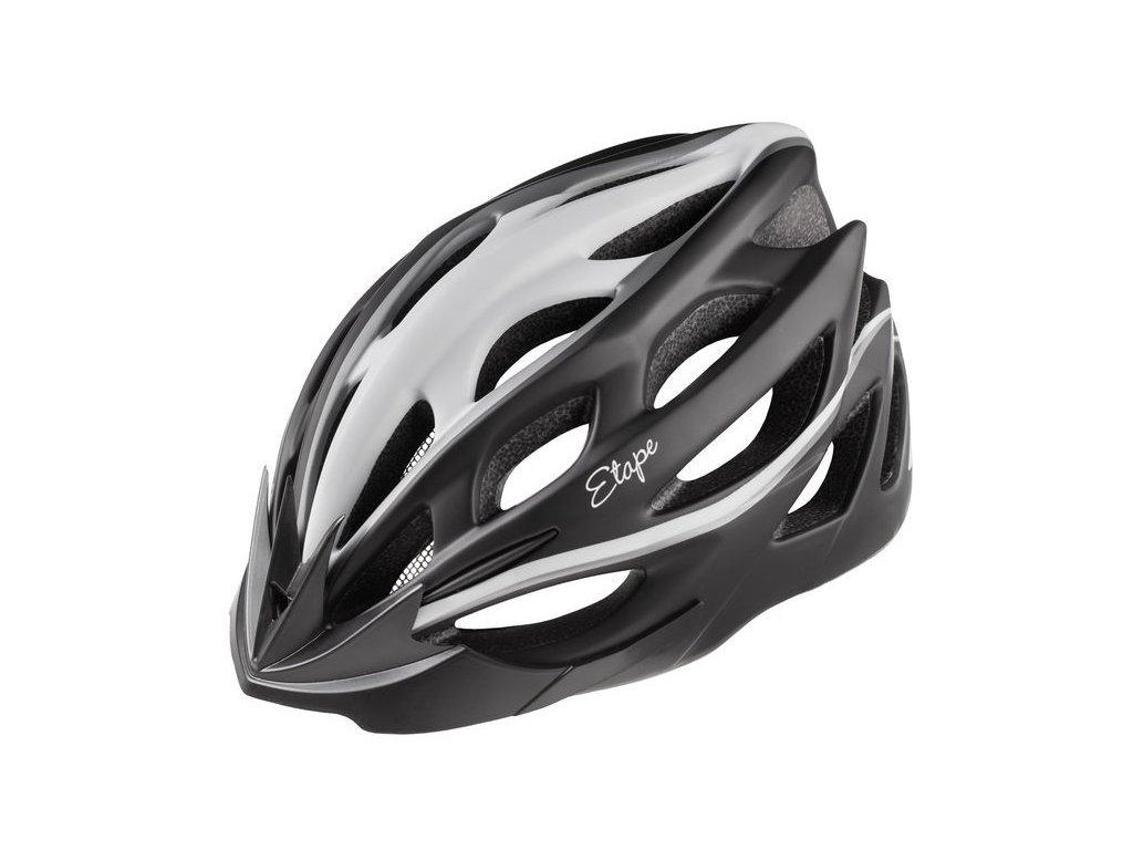 Dámská cyklistická přilba Etape Vesper, černá/bílá mat