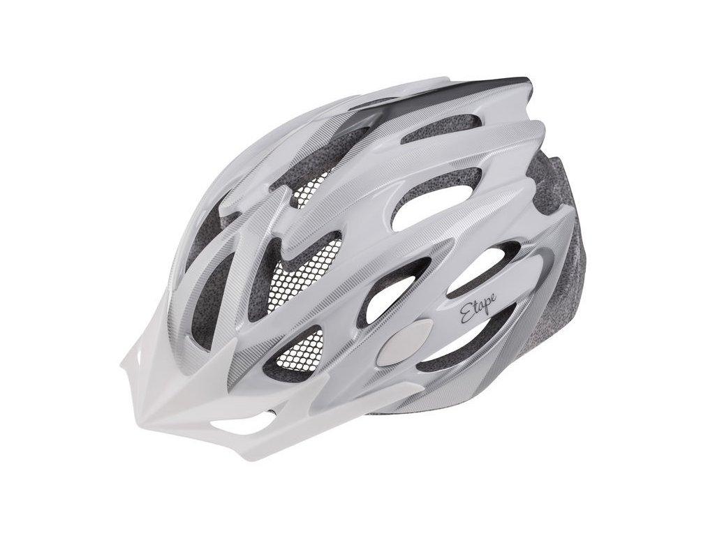 Dámská helma na kolo Etape Venus, bílá/stříbrná