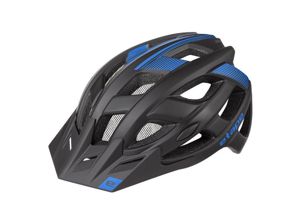 Pánská helma na kolo Etape Escape, černá/modrá mat
