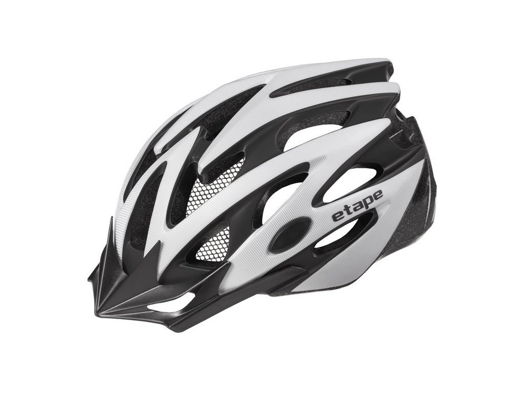 Helma na kolo Etape Biker, stříbrná/černá mat