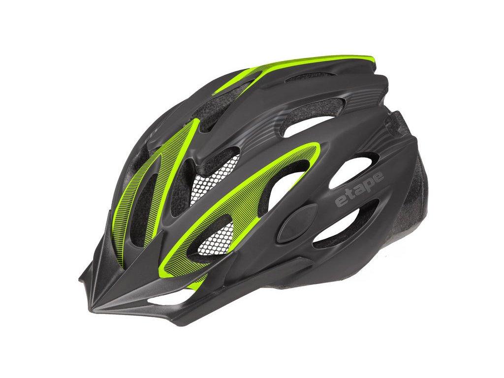 Helma na kolo Etape Biker, černá/žlutá fluo mat