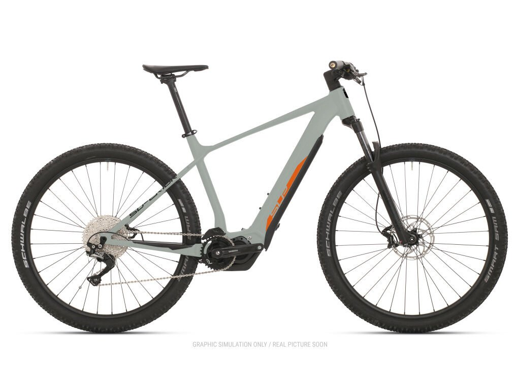 Horské elektrokolo Superior eXP 8089 Gloss Sand Grey/Orange/Black 2021