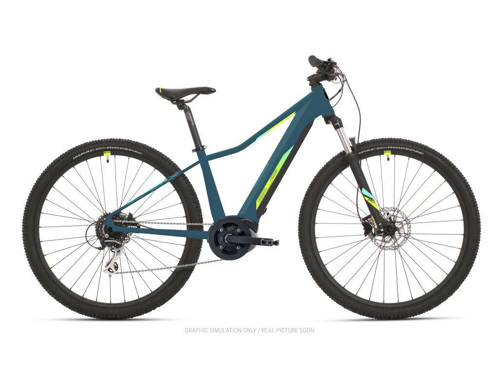 Horské elektrokolo Superior eXC 7039 WB Matte Turquoise/ Neon Yellow/ Blue 2021