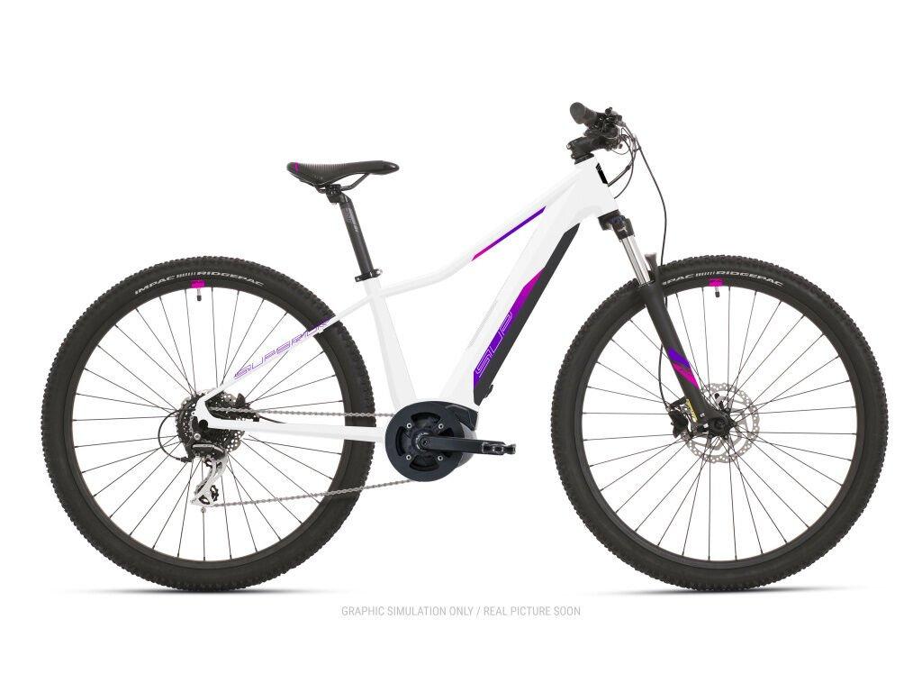 Horské elektrokolo Superior eXC 7019 WB Gloss White/Pink/Violet 2021