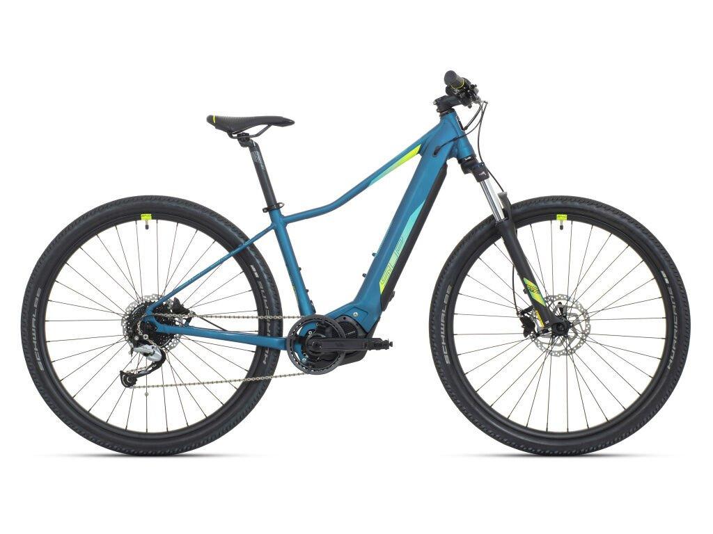 Horské elektrokolo Superior eXC 7019 W Matte Turquoise/Neon Yellow/Blue 2021