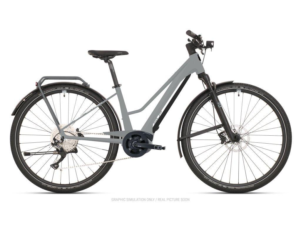 Krosové elektrokolo Superior eXR 6070 L Touring Gloss Gray/Chrome Silver 2021