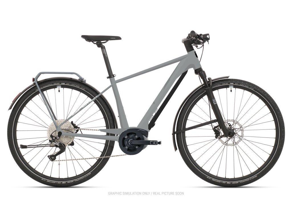 Krosové elektrokolo Superior eXR 6050 B Touring Gloss Gray/Chrome Silver 2021
