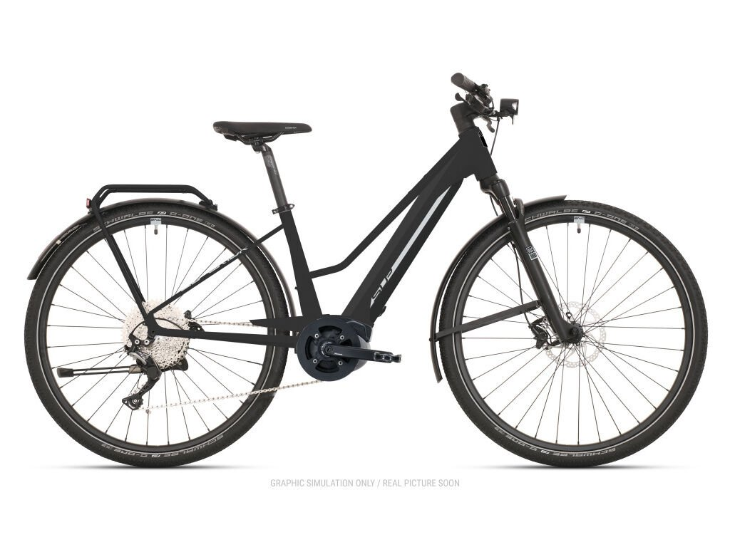 Krosové elektrokolo Superior eXR 6050 L Touring Matte Black/Chrome Silver 2021