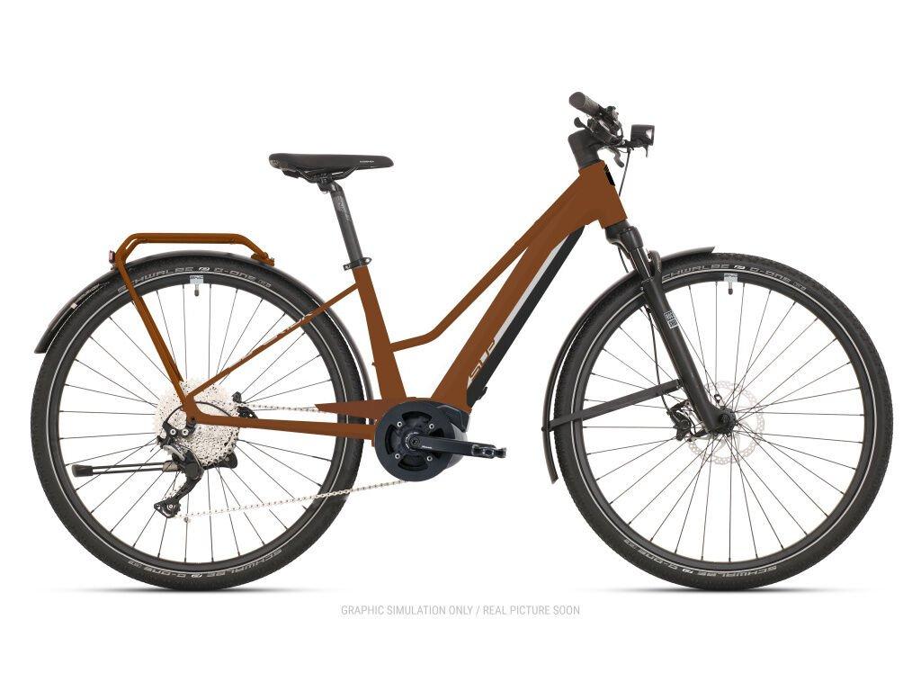 Krosové elektrokolo Superior eXR 6030 L Touring Matte Copper/Chrome Silver 2021