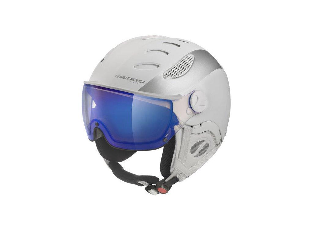 Lyžařská helma Mango Cusna VIP, bílá/stříbrná mat